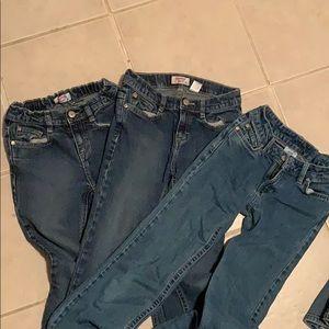2 pairs of Osh Kosh B'gosh + one Canyon Blue Jeans